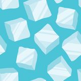 Ice cubes on a blue background. Seamless pattern. vector illustration vector illustration