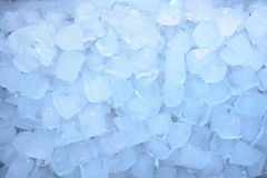 Ice cubes blue Stock Photo