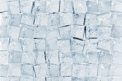 Ice cubes. Blue ice cubes full frame background texture Stock Photos
