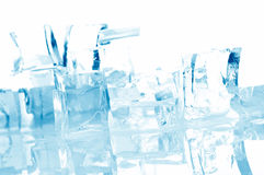 Ice cubes in blue light Stock Photo