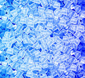 Ice cubes in blue light Stock Image