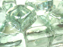 Ice cubes close-up. A close-up picture of some ice cubes stock images