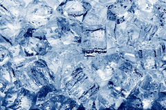 Ice cubes close-up Stock Images