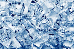 Ice cubes close-up Royalty Free Stock Image