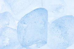Ice cubes close up Royalty Free Stock Photos