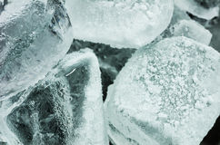 Ice cubes close up Royalty Free Stock Photo
