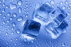 Ice Cubes Closeup Stock Photo