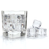 Ice cubes and cold water Stock Image