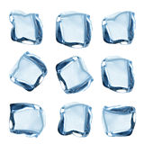 Ice cubes collection royalty free stock photos