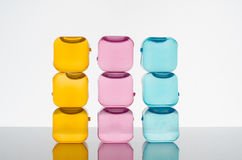 Ice cubes in color Royalty Free Stock Image