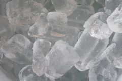 Ice tube background. Ice cubes for drinks To refresh Royalty Free Stock Photo