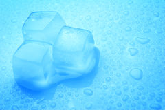 Ice Cubes and Drops Stock Images