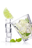 Ice cubes and glass Stock Photography