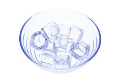 Ice Cubes in Glass Bowl Royalty Free Stock Image