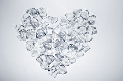 Ice cubes heart Royalty Free Stock Photos