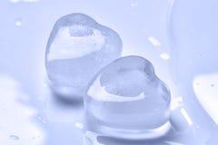 Ice cubes, heart Stock Photo