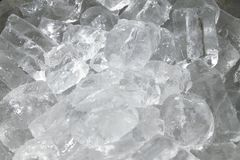 Ice cubes. File contains two clipping path - to the front and the back Stock Photo