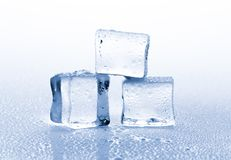 Ice Cubes. Ice ice cubes closeup cold frozen refreshing freeze Royalty Free Stock Photography