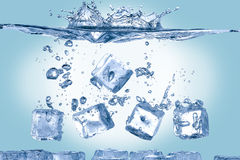 Free Ice Cubes In Water Stock Photography - 61921712