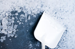 Ice cubes industrial stock images