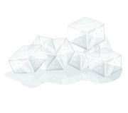 Ice cubes isolated Royalty Free Stock Image