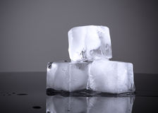 Ice cubes isolated Royalty Free Stock Photo