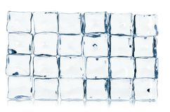 Ice cubes isolated on white Stock Images