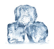 Ice cubes isolated Stock Images