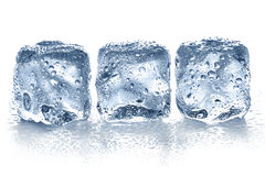 Ice cubes isolated Royalty Free Stock Photos