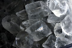 Ice cubes. Light and dark ice cubes effect Royalty Free Stock Photography