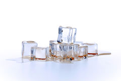 Ice cubes in liquid Royalty Free Stock Image