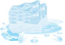 Ice cubes melting Royalty Free Stock Images