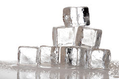Ice cubes melting Stock Photos
