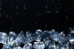 Ice cubes melting on bottom of image Royalty Free Stock Image