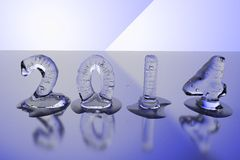 2014 ice cubes. Melting ice cubes forming numbers for the year 2014 (photo realistic Stock Images