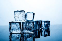 Ice cubes are placed beautifully. Ice color indigo Food and drink concepts suitable for all ages. stock image