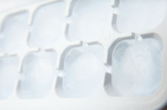 Ice cubes plastic form Royalty Free Stock Photos