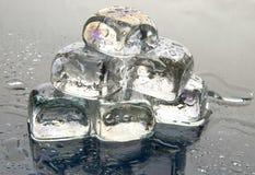 Ice cubes pyramid Stock Photo