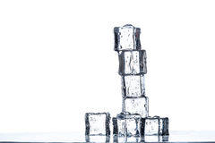 Ice cubes pyramid Stock Photography