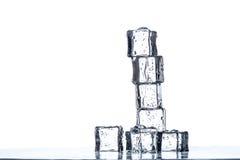 Ice cubes pyramid Stock Photography
