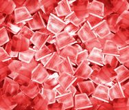 Ice cubes in red light. Royalty Free Stock Image