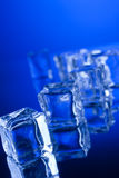 Ice cubes with reflection Stock Photo
