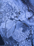 Ice cubes in a river Royalty Free Stock Image