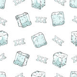 Ice cubes seamless pattern. Royalty Free Stock Images