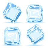 Ice cubes set. Ice cubes. Blue water melting ice pieces vector illustration vector illustration