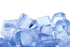 Ice cubes. Side view of ice cubes Stock Images