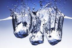 Ice cubes splash Royalty Free Stock Images