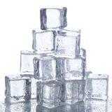 Ice cubes on the table Stock Image