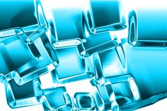 Ice cubes texture. Generated by computer Stock Images
