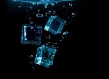 Ice cubes underwater Stock Photo